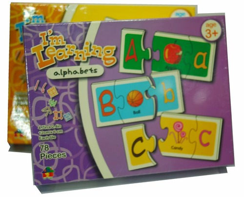 Puzzle Matching Toys (4 pilihan - Abjad, Nombor, Warna dan Bentuk, Masa)