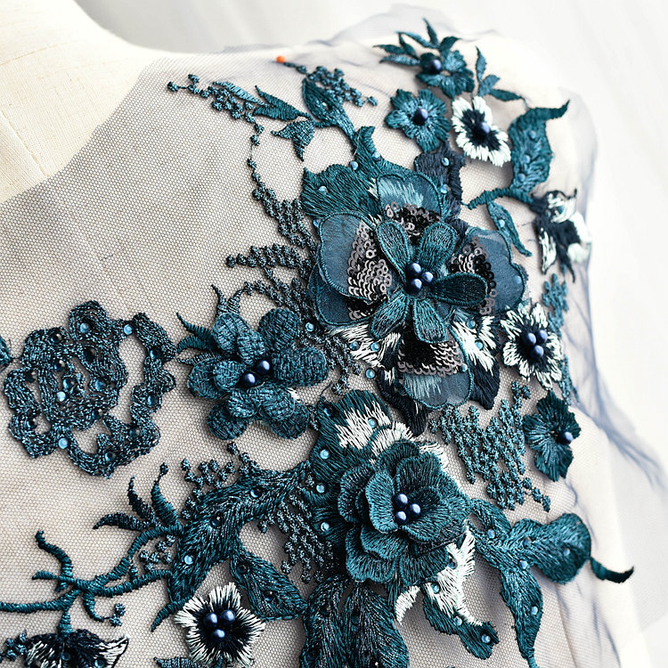 Emroidered Beaded 3D Patch Lace - LP07 [Pre-Order]
