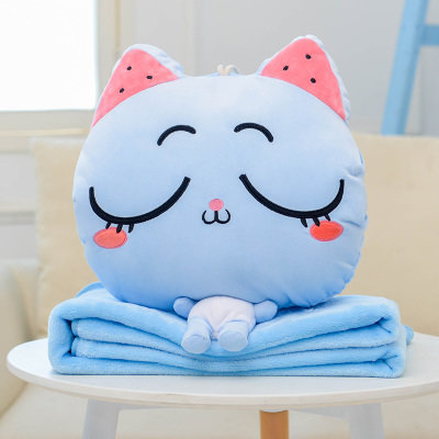 Meow Blue Sleep Pillow Blanket 2 in 1 [Pre-Order]