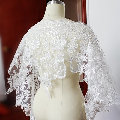 Wide Embroidered Lace with sequins - LWL02 [Pre-Order]