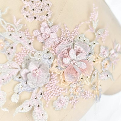 Emroidered Beaded 3D Patch Lace - LP01 [Pre-Order]