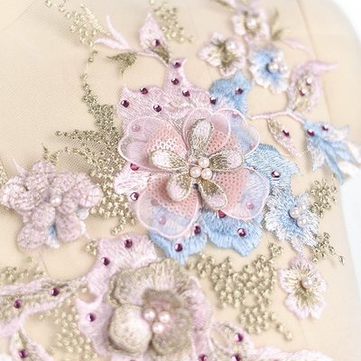 Emroidered Beaded 3D Patch Lace - LP02 [Pre-Order]