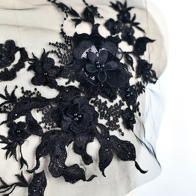 Emroidered Beaded 3D Patch Lace - LP05 [Pre-Order]