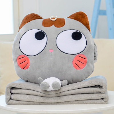 Meow Grey Pillow Blanket 2 in 1[Pre-Order]
