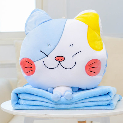 Meow Blue White Sleep Pillow Blanket 2 in 1 [Pre-Order]