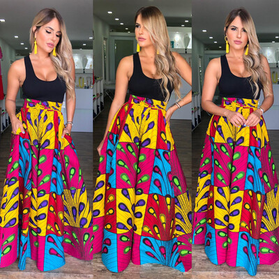Lima Highwaist Maxi Skirt (One Size Plus)