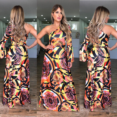 Designer Inspired One Shoulders Maxi