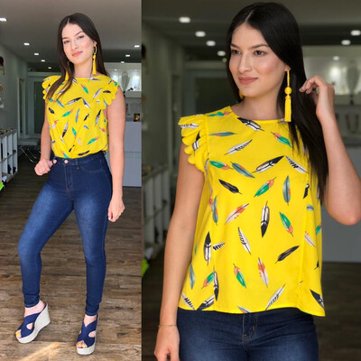 Yellow Feathers Blouse
