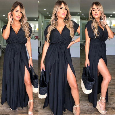 Black Cover Up Maxi Dress