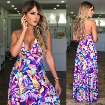 Abstract Cross Back Maxi By Pía