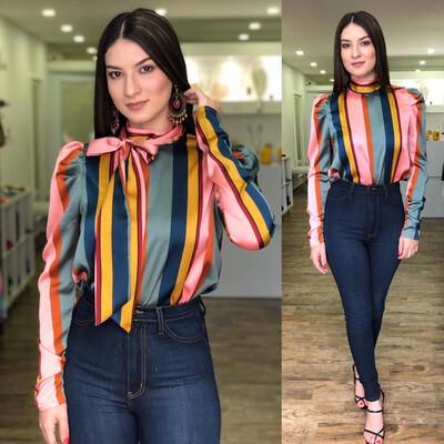 Vintage Stripes Blouse