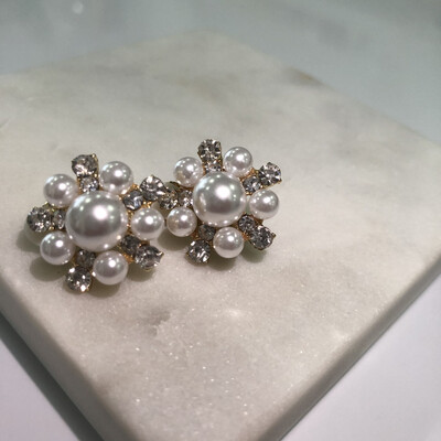 Luminous Pearl Clip Earrings