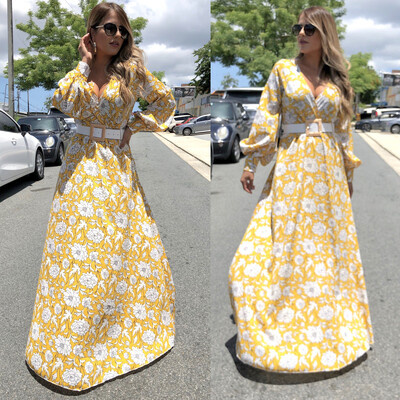 Camila Yellow Maxi Dress