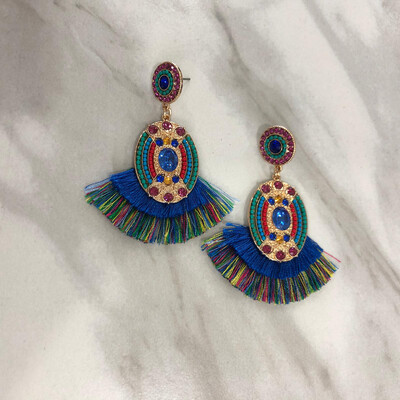 Blue Yazmine Earrings