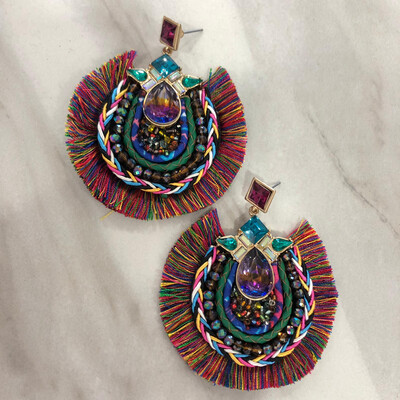 Multi Bejeweled  Earrings