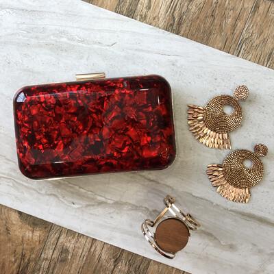 Red Scarlet Clutch