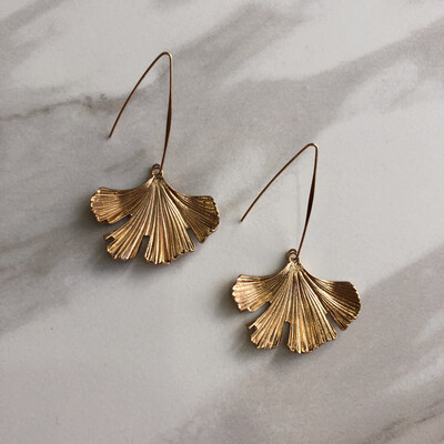 Gold Petals Earrings