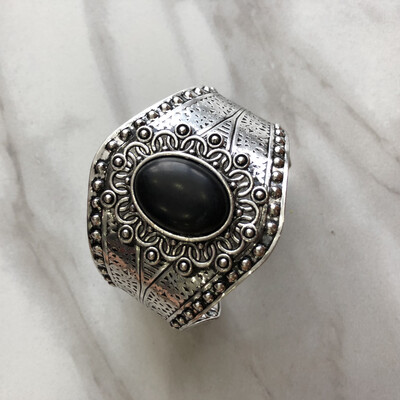 Silver Black Cuff