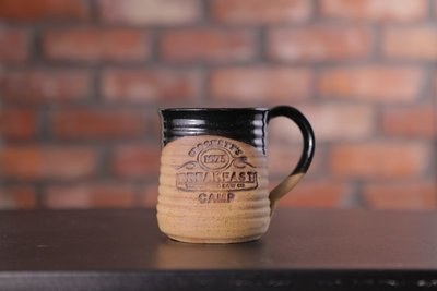 Crockett's Breakfast Camp Pottery Mug