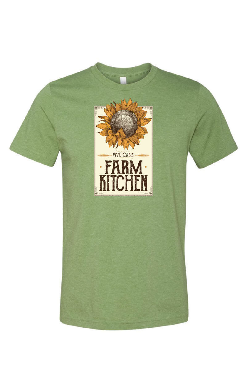 Five Oaks Farm Kitchen - Sunflower Short Sleeve Shirt (Front)