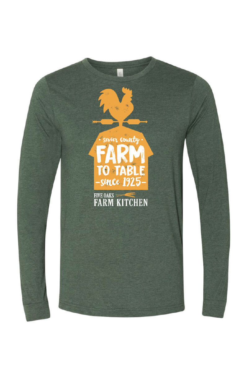 Five Oaks Farm Kitchen - Support Your Local Farmer Long Sleeve Shirt (Front)