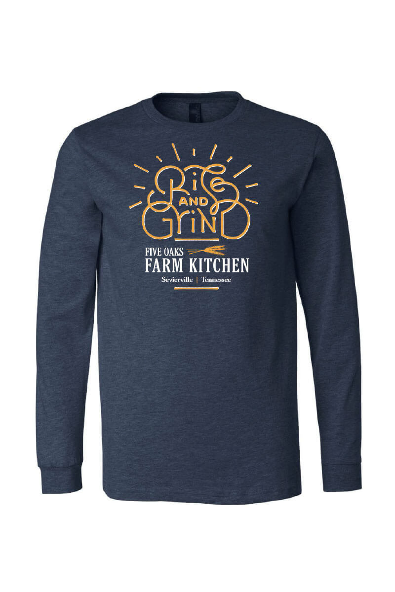 Five Oaks Farm Kitchen - Rise And Grind Long Sleeve Shirt (Front)