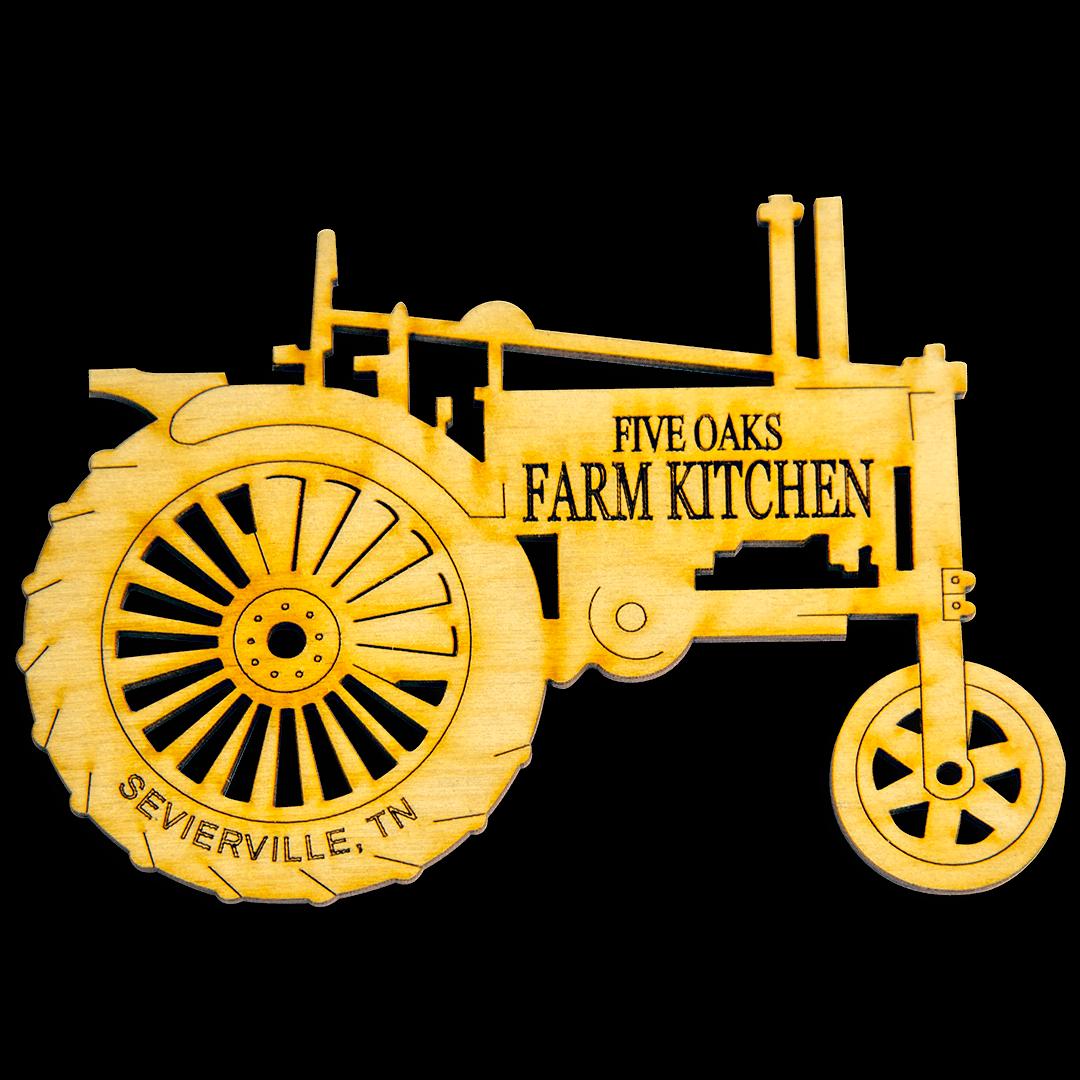 Farm Tractor Laser Cut Hardwood Magnet 001529999