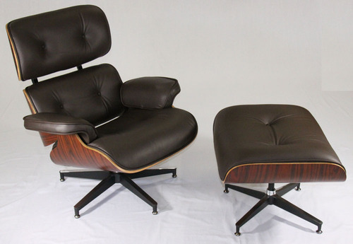 Magnificent Eames Lounge Chair 670 And Ottoman 671 Top Grain Brown Italian Leather Bralicious Painted Fabric Chair Ideas Braliciousco