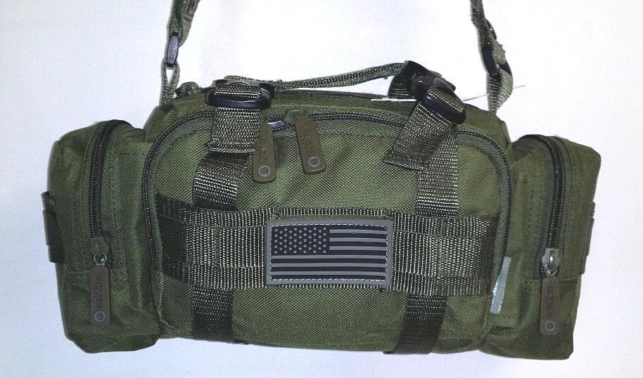 Fanny Pack Tactical Large Olive MOLLE Waist Hip Belt Bum Bag Messenger Sling