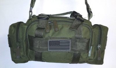 Fanny Pack Tactical Large Olive MOLLE Waist Hip Belt Bum Bag Messenger Sling