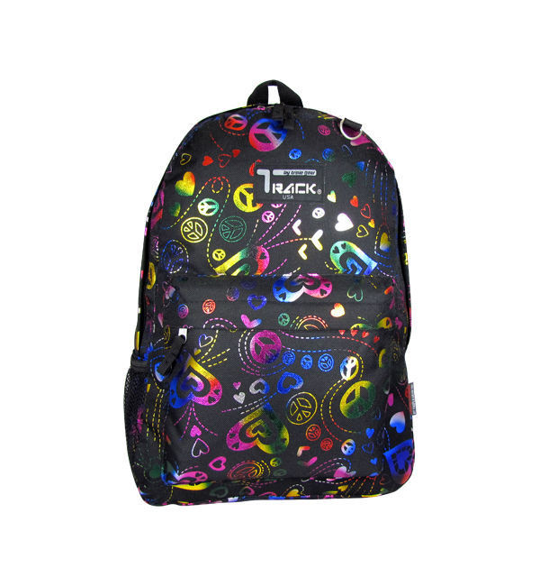 NEON Peace Signs Backpack School Pack Bag TB205