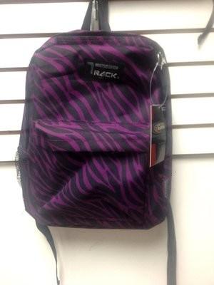 Purple Zebra Backpack School Pack Bag TB205