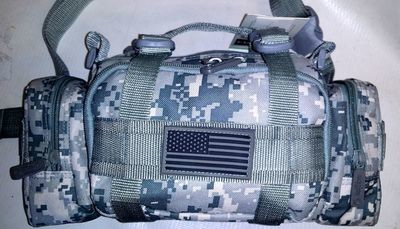 Fanny Pack Tactical Large ACU Digital MOLLE Waist Hip Belt Bum Bag Messenger Sling