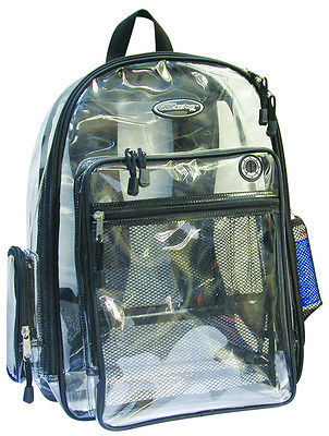 CLEAR Backpack Black Trim BP007