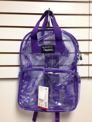 CLEAR Backpack Purple Trim TC001