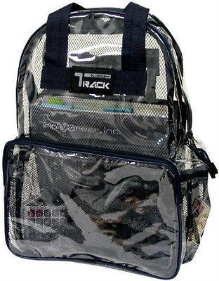 CLEAR Backpack Black Trim TC001