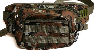 Fanny Pack Tactical Large Hip Belt Bum Bag Pouch - Brown/Green  Digital