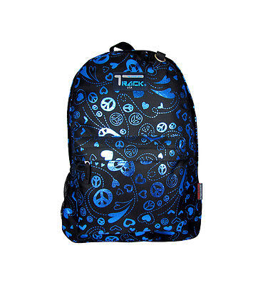 Blue Peace Signs Backpack School Pack Bag TB205
