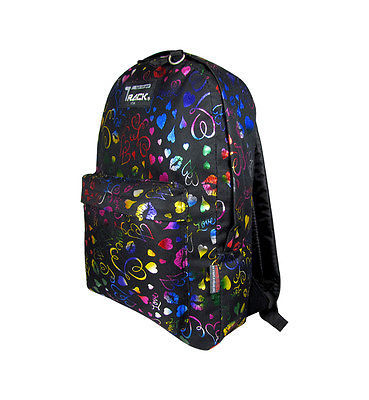 NEON Hearts Lips Backpack School Pack Bag TB205