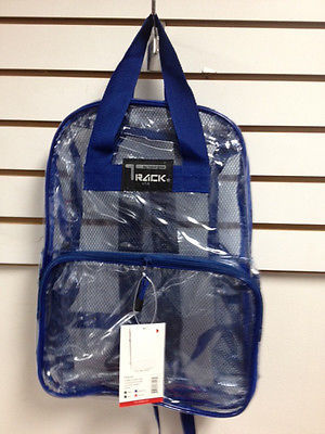 CLEAR Backpack Royal Blue Trim TC001