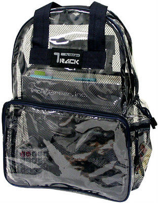 CLEAR Backpack Black Trim TC001