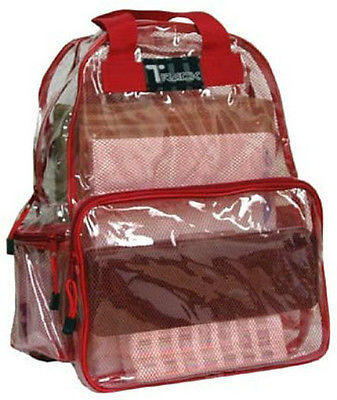 CLEAR Backpack Red Trim TC001