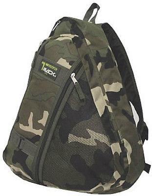 Green Camo Messenger Sling Body Bag Backpack One Strap  TT303