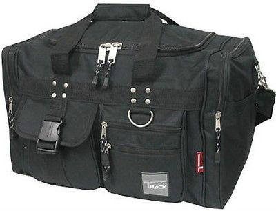 Small BLACK DUFFELBAG -  TD019 Gym Bag Carry On