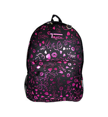 PINK Hearts Lips Backpack  School Pack Bag TB205
