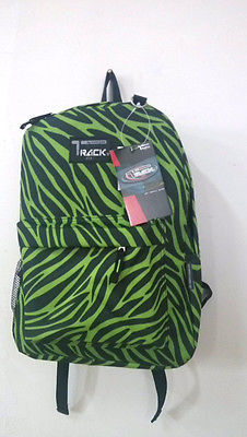 Lime Green Zebra  Backpack School Pack Bag TB205