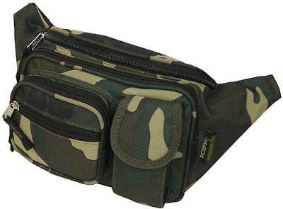 Fanny Pack  Hip Belt Bum Bag Pouch - Green Camo