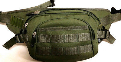 Fanny Pack Tactical Large Hip Belt Bum Bag Pouch - Olive