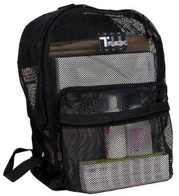 Black Mesh Backpack