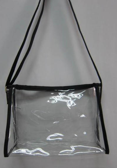 Clear Purse Handbag Black Messenger Sling See Through